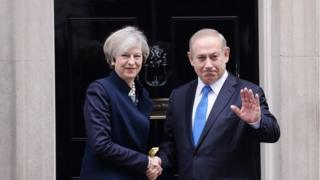 Theresa May and Benjamin Netanyahu (06/02/17)