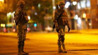 Toque de queda en Santiago de Chile