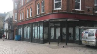 The former Grimwades store on Ipswich's Cornhill