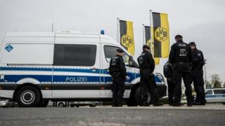 Police at Dortmund training ground