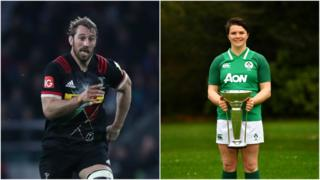 Chris Robshaw (L) Ciara Griffin (R)