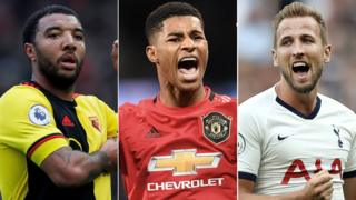 in_pictures Troy Deeney, Marcus Rashford and Harry Kane