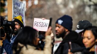 Protests in Richmond Virginia calling for Governor Northam to resign