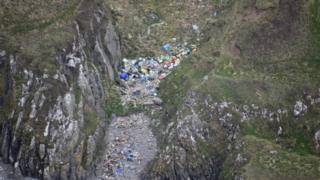 Solway coast litter