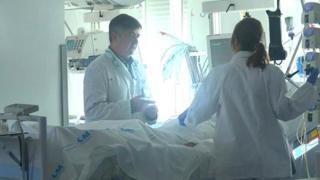 Intensive care in Madrid, Spain