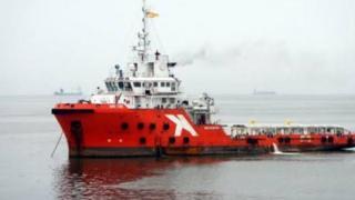 Kapal ARK TZE yang diserang.