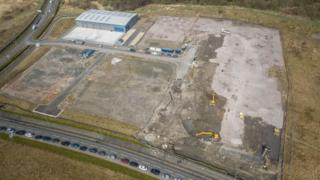 Gartcosh Steel Works site in North Lanarkshire