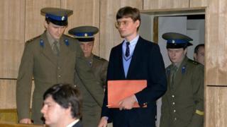 Mathias Rust en el juicio que se le siguió