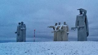 War memorial near Volokolamsk