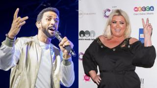 Craig David and Gemma Collins
