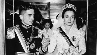 الملك الحسين بن طلال والأميرة دينا