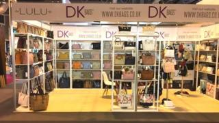 DK Bags exhibition stall