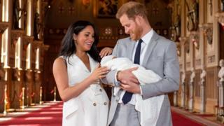 The Duke and Duchess of Sussex and their son