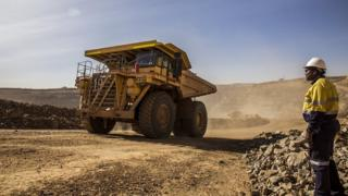 Acacia Mining truck