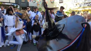 The 'Obby 'Oss festival in Padstow, Cornwall