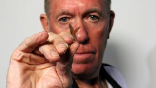 John Lowe darts MBE