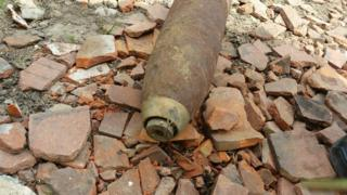 The unexploded device