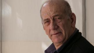 Ehud Olmert in court in Jerusalem on 10 February 2016
