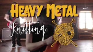 logo for Heavy Metal Knitting
