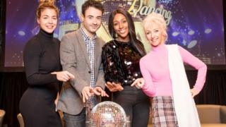 The Strictly Come Dancing finalists