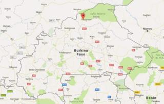 Ramani ya Burkina Fasso