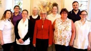 Staff at Fairhaven Lodge with managers Carol Williams (centre) and Geraldine Barnes (left)