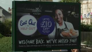 An Eat out to Help Out billboard