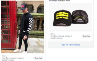 Concept Cap adverts appear in Facebook's library for political ads