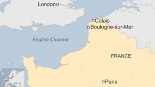 Map of northern France