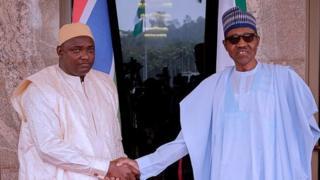 Nigeria President Muhammadu Buhari and Gambia President Adama Barrow