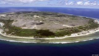 An aerial photograph of Nauru: The world's smallest republic