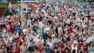 Crowds in Skegness