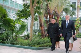 지난 2월 북한 김정은 국무위원장과 미국 도널드 트럼프 대통령이 베트남 하노이 메트로폴 호텔에서 단독회담, 확대회담을 했다
