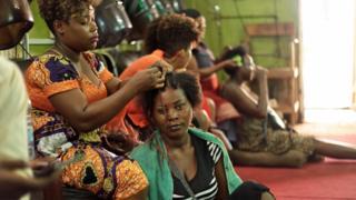 A hair salon in Bujumbura, Burundi -Thursday 9 April 2020