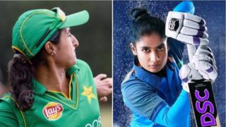 पाकिस्तानी, भारतीय महिला खिलाड़ी