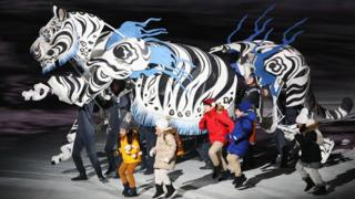 Тигр на церемонии
