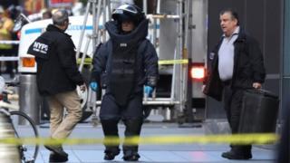 ماموران خنثی بمب دفتر شبکه خبری سیانان را تخلیه کردند