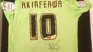 Adebayo Akinfenwa's signed match shirt