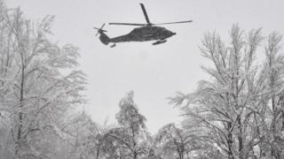 Австрийская армия применяет вертолеты