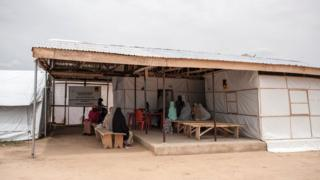 A general view of the IRC (International Rescue Committee) health clinic in Bakassi IDP (Internally Displaced People) Camp in Maiduguri in north-east Nigeria