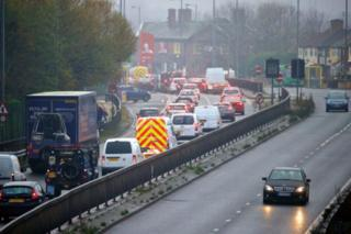 The current A5036 is heavily congested