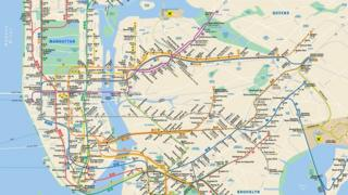 The New York Subway map which was first used in 1979
