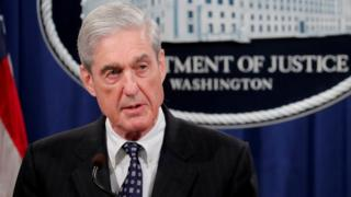 US Special Counsel Robert Mueller speaks about the Russia investigation at the Justice Department in Washington, 29 May 2019