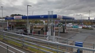 Tesco filling station, Lanark Road, Carluke