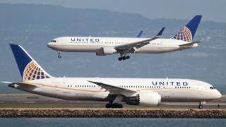 Avión de United Airlines