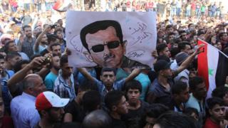 تظاهرات موالية للرئيس السوري بشار الأسد