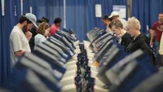 Votación en Estados Unidos.