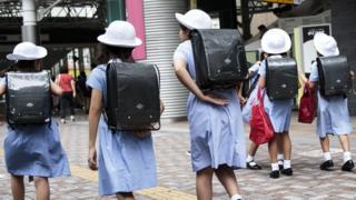 Japanese schoolgirls. File photo