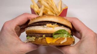 Hamburguesa de McDonalds.