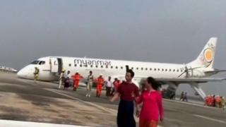 म्यानमार विमान दुर्घटना